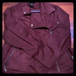 Lane Bryant purple suede jacket